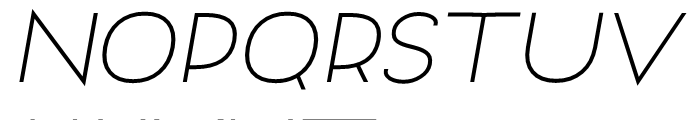 Archivio Italic 700 Font UPPERCASE
