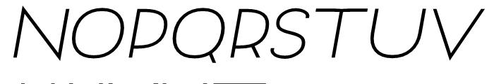 Archivio Italic 900 Font UPPERCASE