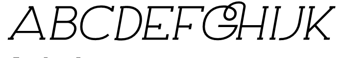 Archivio Italic Slab 900 Font UPPERCASE