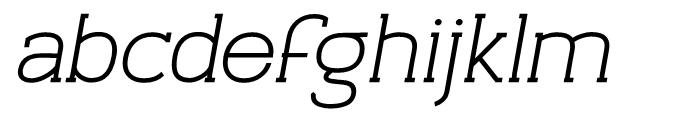 Archivio Italic Slab 900 Font LOWERCASE