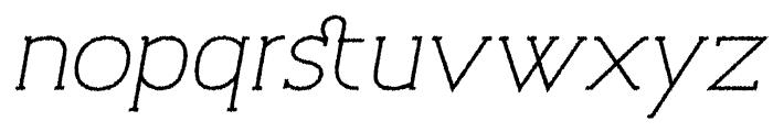 Archivio Italic Slab Rough 400 Font LOWERCASE