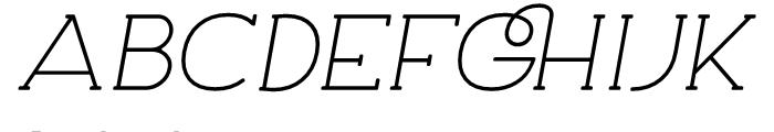 Archivio Italic Slab Rounded 400 Font UPPERCASE