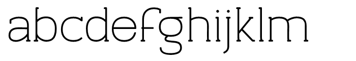 Archivio Slab Rounded 400 Font LOWERCASE