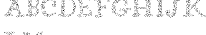 Arco Star Shine Font UPPERCASE