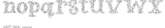Arco Star Shine Font LOWERCASE