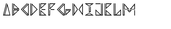 Argonautica Outlined Closed Font UPPERCASE