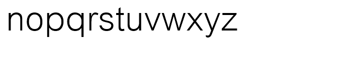 Arial Light Font LOWERCASE