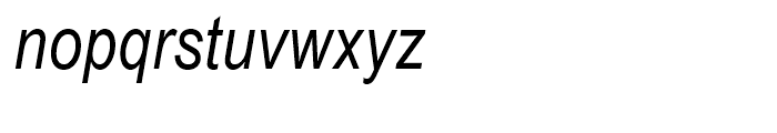 Arial Narrow Italic Font LOWERCASE