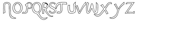 Ariana Elegance Outline Font UPPERCASE