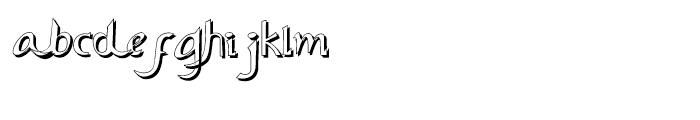 Ariana Elegance Shadow Font LOWERCASE
