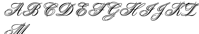 Aristocrat Font UPPERCASE