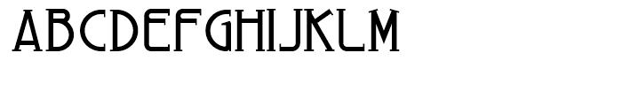 Arius Regular Font UPPERCASE