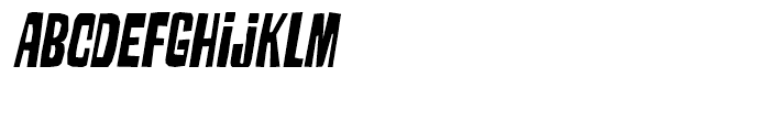 Armageda Condensed Italic Font LOWERCASE