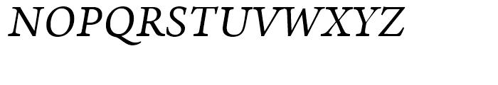 Arno Italic Font UPPERCASE