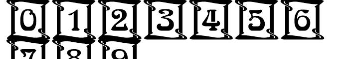 Arnold Bcklin Initials Standard D Font OTHER CHARS