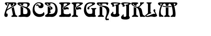 Arnold Boecklin Regular Font UPPERCASE