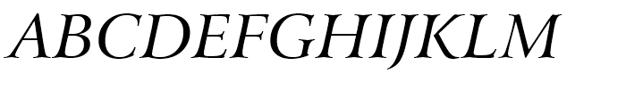 Arrus BT Italic OSF Font UPPERCASE