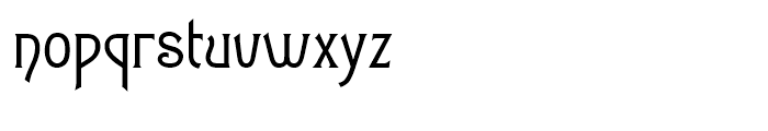 Art Gothic Normal Font LOWERCASE