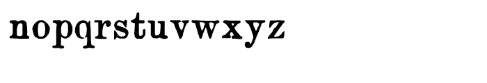 Artful Dodger Regular Font LOWERCASE