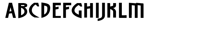 Artz Wide Font UPPERCASE