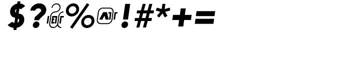 Arya Single Slant Font OTHER CHARS