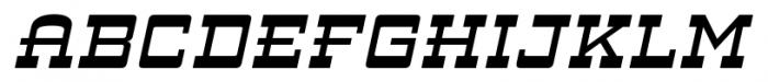 ARB 93 Steel Moderne SEP-39 CAS Italic Font UPPERCASE