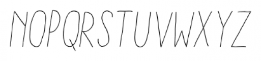 Aracne Condensed Stamp Light Italic Font UPPERCASE
