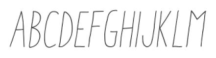 Aracne Condensed Stamp Light Italic Font LOWERCASE