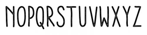 Aracne Condensed Stamp Regular Font LOWERCASE