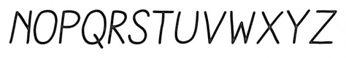 Aracne Stamp Italic Font UPPERCASE