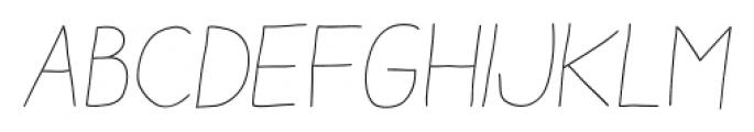 Aracne Stamp Light Italic Font UPPERCASE