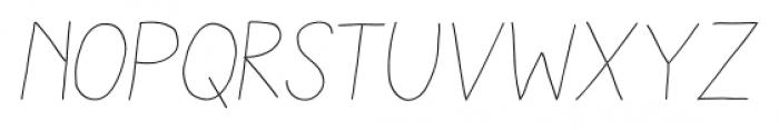 Aracne Stamp Light Italic Font LOWERCASE