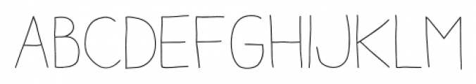 Aracne Stamp Light Font LOWERCASE