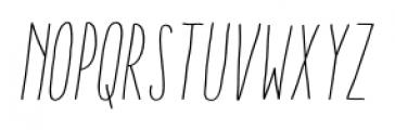 Aracne Ultra Condensed Stamp Light Italic Font LOWERCASE
