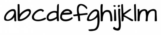 Architects Daughter Regular Font LOWERCASE