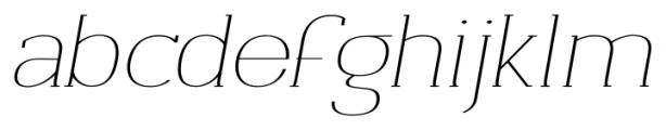 Archivio Italic Slab Contrasted 400 Font LOWERCASE