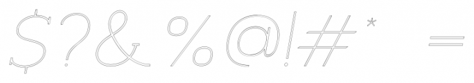 Archivio Italic Slab Outline 400 Font OTHER CHARS