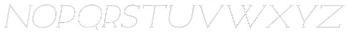 Archivio Italic Slab Outline 400 Font UPPERCASE