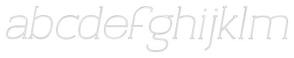 Archivio Italic Slab Outline 400 Font LOWERCASE