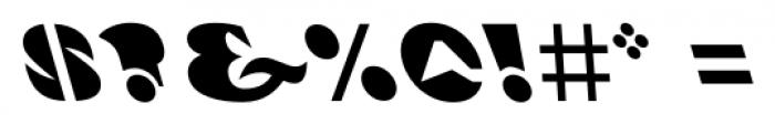 Ardent Backslanted Font OTHER CHARS