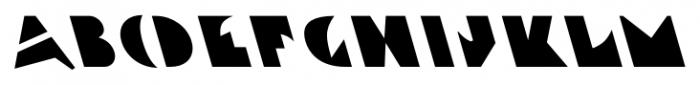 Ardent Backslanted Font UPPERCASE