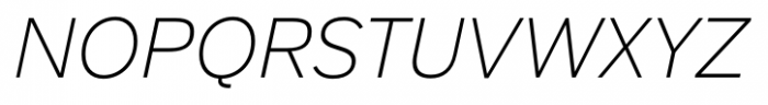 Armitage Thin Italic Font UPPERCASE