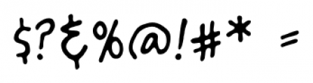 ArtistsAlley BB Regular Font OTHER CHARS