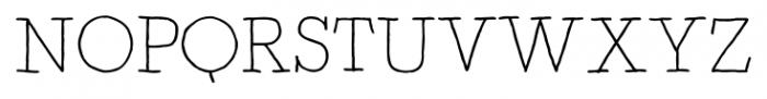 Artlessness Light Font UPPERCASE