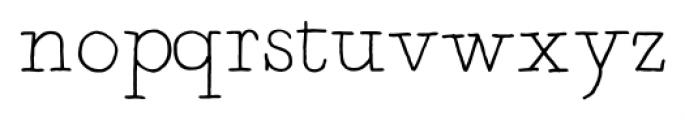 Artlessness Light Font LOWERCASE
