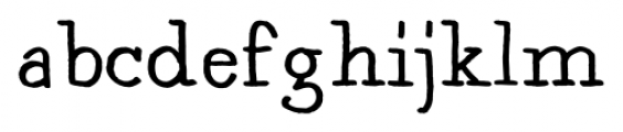 Artlessness Regular Font LOWERCASE