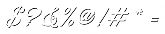 Artonic Shadow Font OTHER CHARS