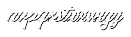 Artonic Shadow Font LOWERCASE