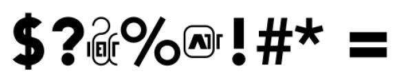 Arya Single Single Slant Font OTHER CHARS