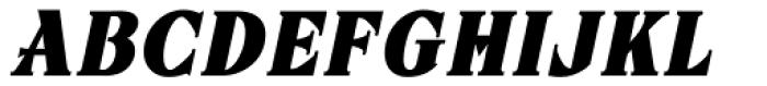 ARB 67 Roman Tall JUL-37 CAS Bold Italic Font UPPERCASE